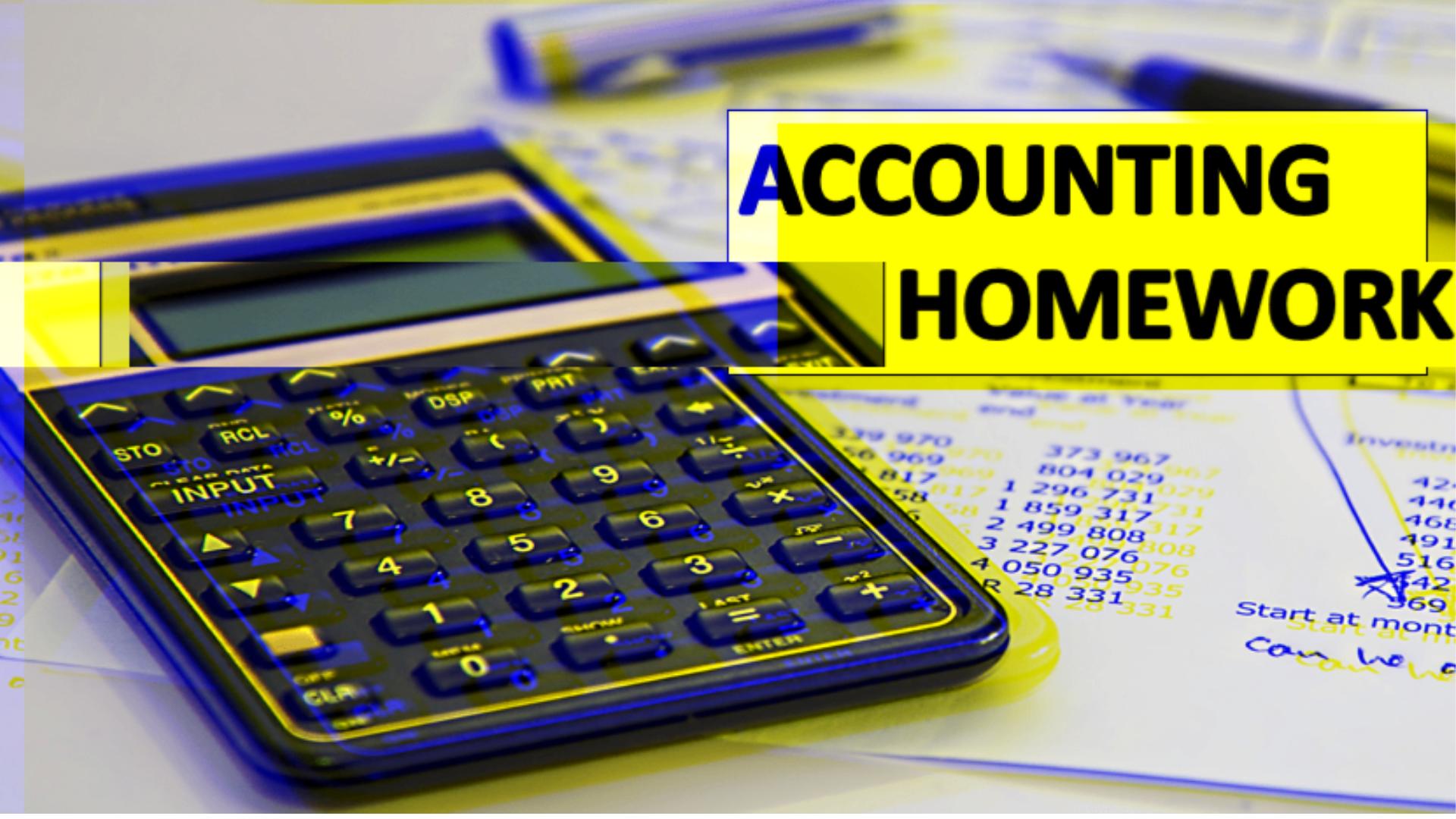 accounting hw help